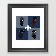 The Musketeers Framed Art Print