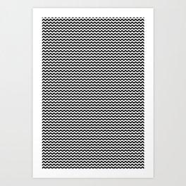 Chevron Black Art Print