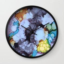 Inky Bubbles Wall Clock