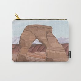 Arches National Park, National Parks Poster, Illustrated Arches, Utah, Capitol Reef, Zion Carry-All Pouch