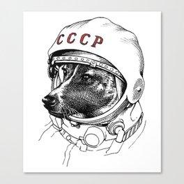 Laika space traveler Canvas Print