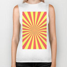 Starburst (Red & Yellow Pattern) Biker Tank