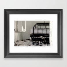 Unmade bed Framed Art Print