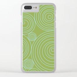 Circles & Circles Clear iPhone Case