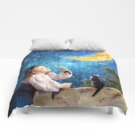 One Wish Upon the Moon Comforters