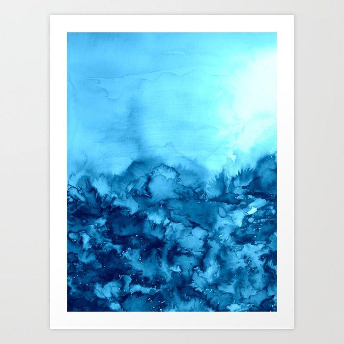 Into Eternity Turquoise Colorful Aqua Blue Watercolor
