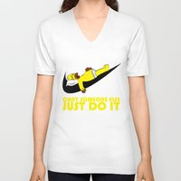 homer V-neck T-shirts featuring Homer Lazy by Maxvtis
