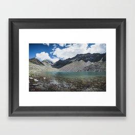 Blue Alpine Lake in Austria Framed Art Print