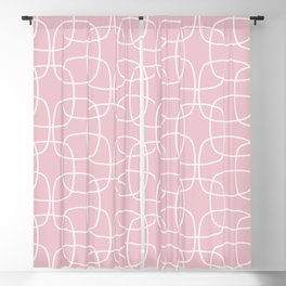 Square Pattern Pink Blackout Curtain