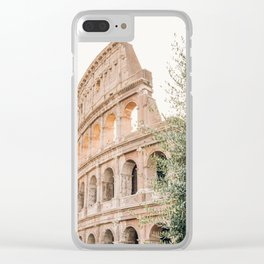 Morning at the Colosseum Clear iPhone Case