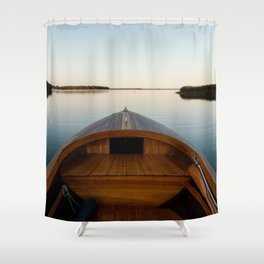 Summer Mornings On The Lake Shower Curtain