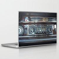 mercedes Laptop & iPad Skins featuring Vintage Radio Becker Europa by Premium