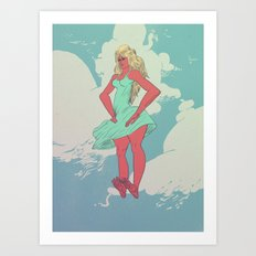 Summer Float Art Print