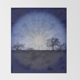 Celestial Clockwork Throw Blanket