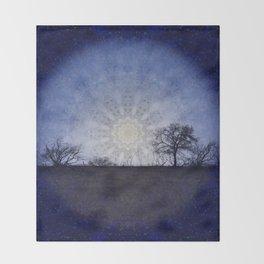 Celestial Clockwork Throw Blanket