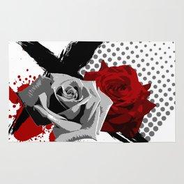 Trash Polka Roses Rug