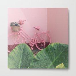 Pastel Bicycle Metal Print