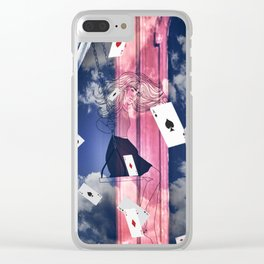 THE GAMBLER Clear iPhone Case