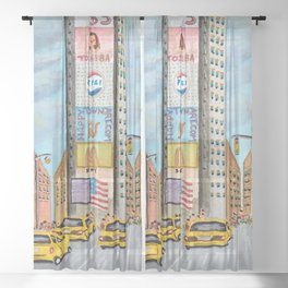 One Times Square Sheer Curtain