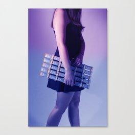 Violet. Blue Canvas Print