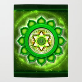 "Anahata Chakra - Heart Chakra - Series ""Open Chakra"" Poster"