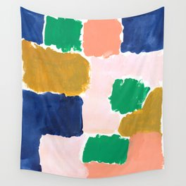 Shel - abstract painting boho modern bright minimal color palette gender neutral dorm college decor Wall Tapestry