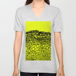 Crowded - Abstract In Black And Yellow Unisex V-Neck