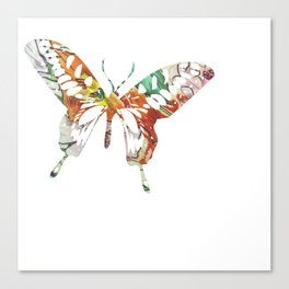 Colorful butterfly fabric art Canvas Print