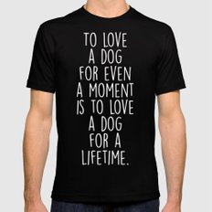 To Love A Dog LARGE Mens Fitted Tee Black