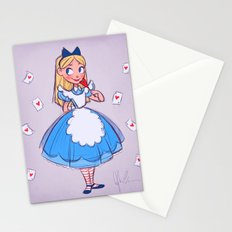 Alice Sketch Stationery Cards