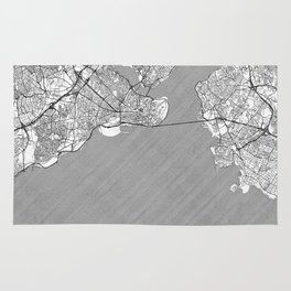Istanbul Map Line Rug