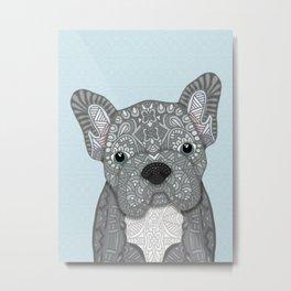Gray Frenchie 001 Metal Print