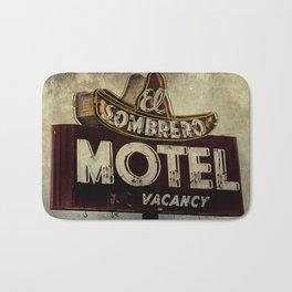 Vintage El Sombrero Motel Sign Bath Mat