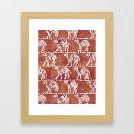 CAMEL CARAVAN Framed Art Print