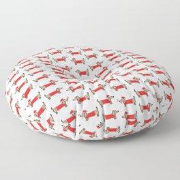 Christmas dachshund pattern Floor Pillow