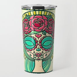 Sugar Skull Girl Travel Mug