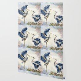 Great Blue Heron Couple Wallpaper