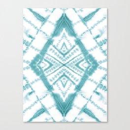 Dye Diamond Sea Salt Canvas Print