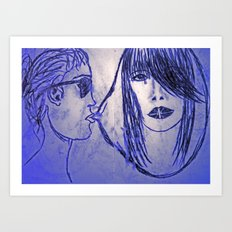 UK dream girl Art Print