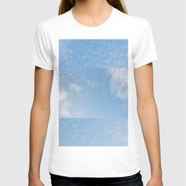 Melting snow drops blue sky T-shirt