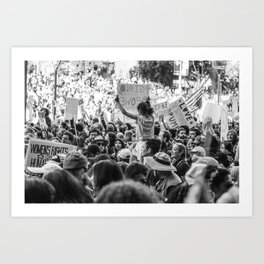 Girl Power in a Crowd - Women's March Street Photography, Los Angeles 2017 Art Print
