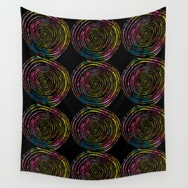 Spirals of Fire Wall Tapestry
