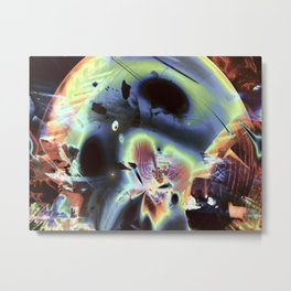 """Retro Moon Rising 2"" Metal Print"