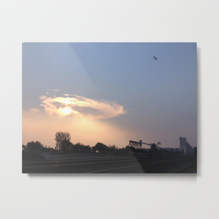 Terminal halo cloud Metal Print