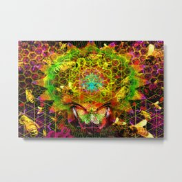 Honeycomb Hideout Metal Print