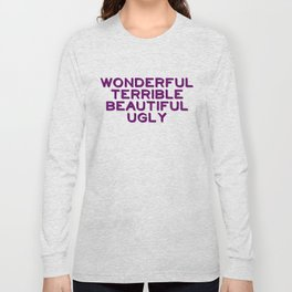 Wonderful-purple Long Sleeve T-shirt