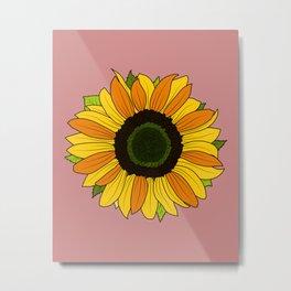 Sunflower Vintage Metal Print