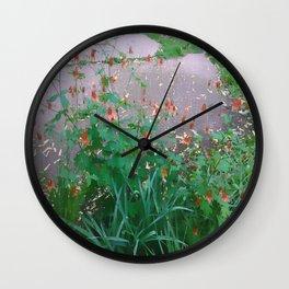 Patio Flowers Wall Clock