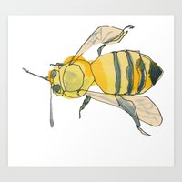 bee no. 2x2 Art Print