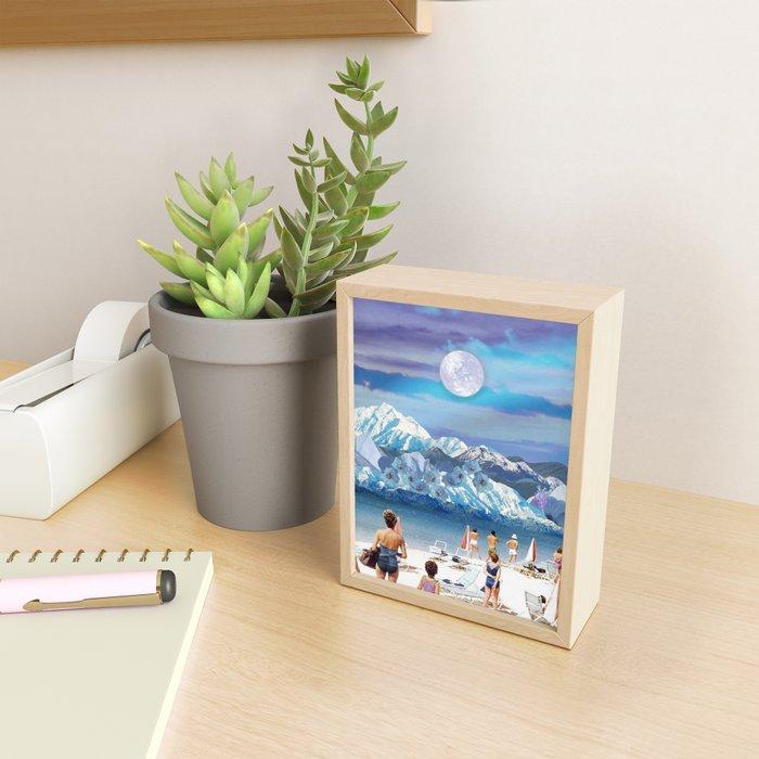 Cold beach Framed Mini Art Print